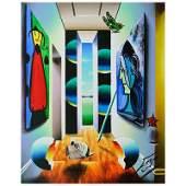 Ferjo Hallway to Garden Wanderers Original Painting