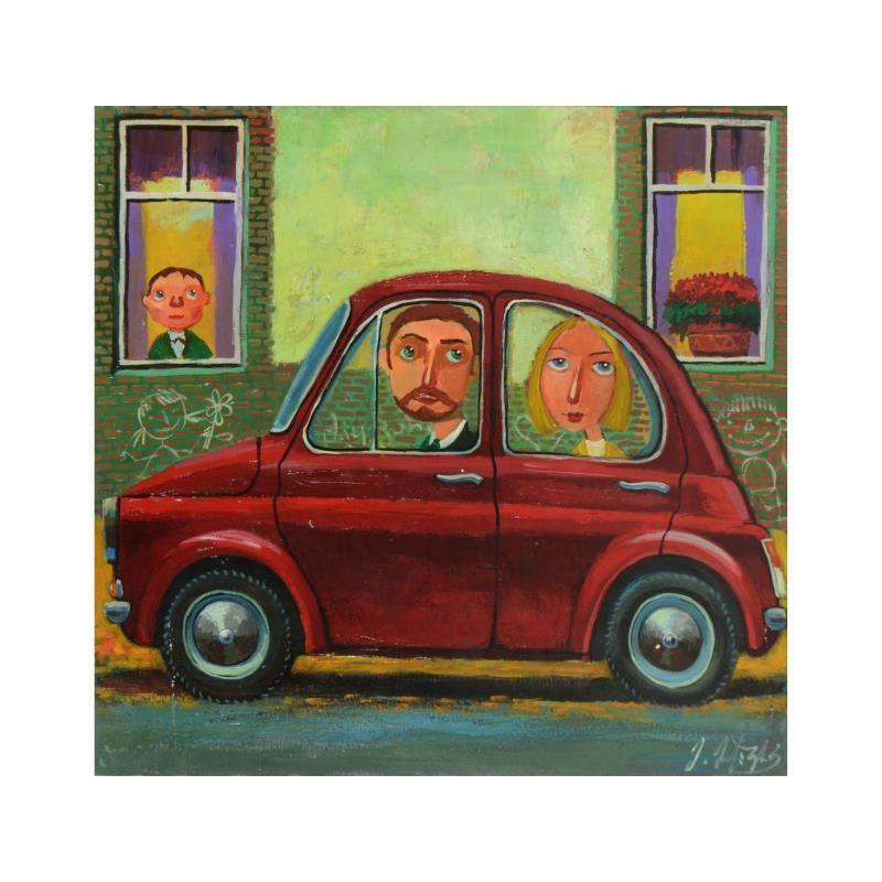 Mikheil Mikaberidze, Original Oil Painting on Canvas,