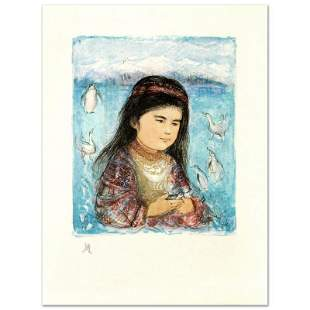 """""""Aleut Child"""" Limited Edition Lithograph by Edna Hibel"""