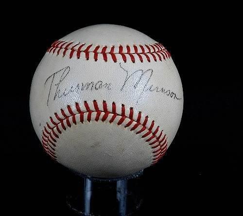 168: Thurman Munson Autographed Baseball