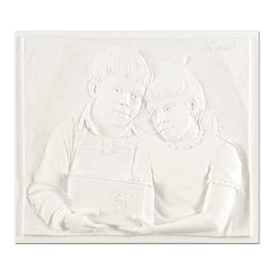 """Bill Mack, """"Sharing"""" Limited Edition Monotype Relief"""