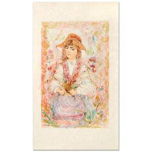 """""""Heidi"""" Limited Edition Lithograph by Edna Hibel"""