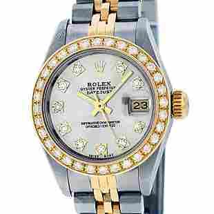 Rolex Ladies 2 Tone Silver VS Diamond Datejust 26MM