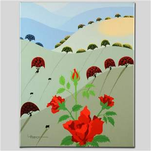 """""""Pushing Up Roses"""" Limited Edition Giclee on Canvas by"""