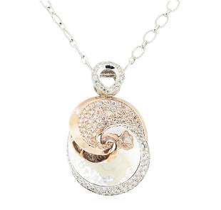 2.38 ctw Round Brilliant Cut Diamond Necklace And Chain