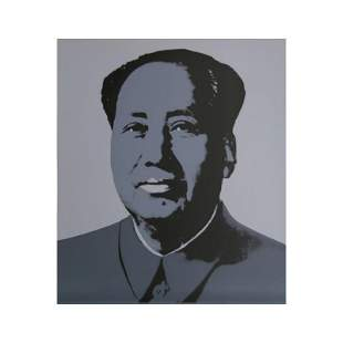 "Andy Warhol ""Mao Grey"" Silk Screen Print from Sunday B"