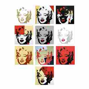 "Andy Warhol ""Golden Marilyn Portfolio"" Limited Edition"