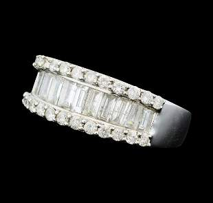 1.95 ctw Diamond Band - 14KT White Gold