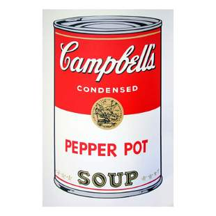 "Andy Warhol ""Soup Can 11.51 (Pepper Pot)"" Silk Screen"