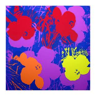 "Andy Warhol ""Flowers 11.66"" Silk Screen Print from"