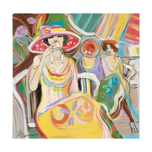 "Isaac Maimon, ""Cafe Break"" Original Acrylic Painting,"