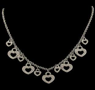 2.00 ctw Diamond Necklace - 18KT White Gold