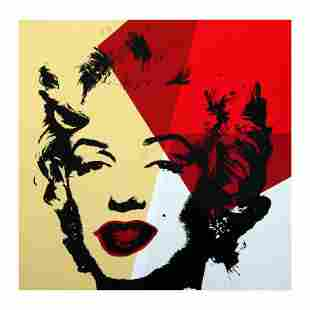 "Andy Warhol ""Golden Marilyn 11.42"" Limited Edition Silk"