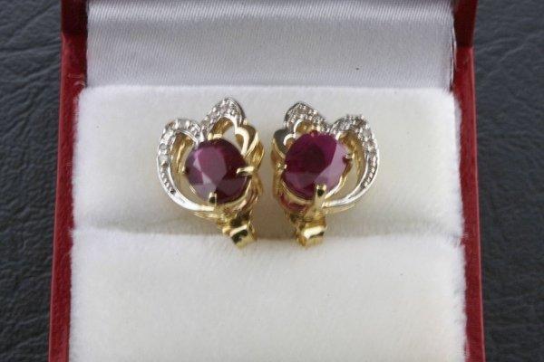 2: Ladies Ruby Diamond Earring 3.96ctw - DI149