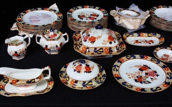 6: (97) Piece Enoch Ralph Vintage English China Set #65 - 2