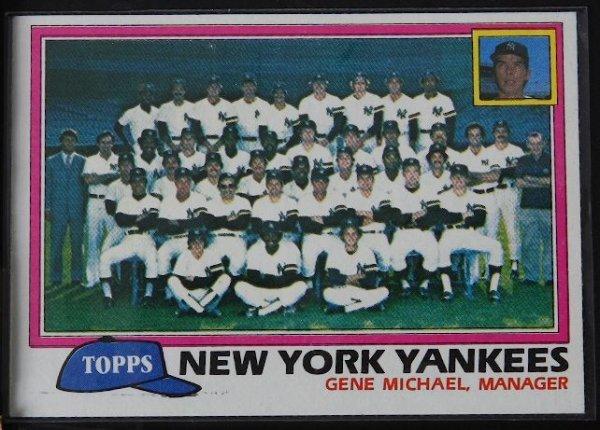 11: 1981 Yankees Team Vintage Baseball Card C15