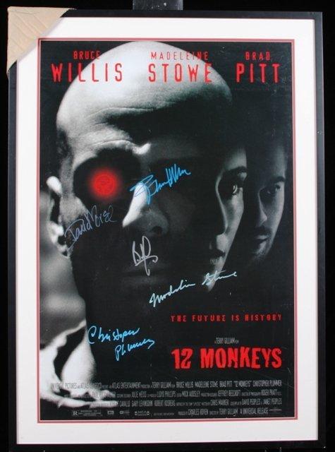 13: 12 Monkeys Autographed & Framed Movie Poster