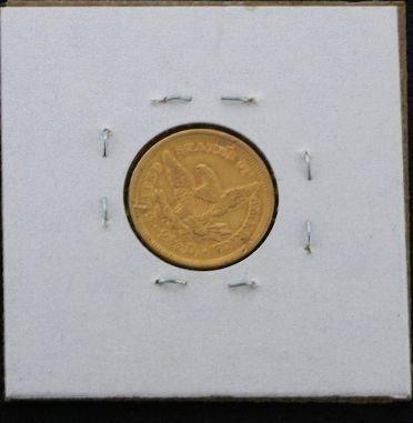19: 1998 Liberty Head 2 1/2 Dollar Gold Piece XX07 - 2