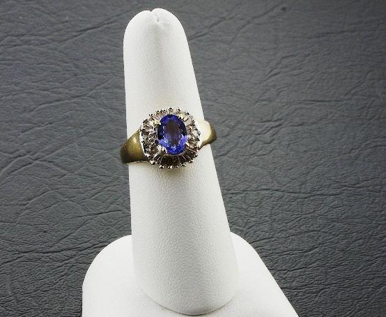 24: Ladies' Tanzanite Diamond Ring 1.52ctw DG10A