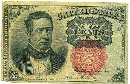 3: 1874 .10 Cents Bill PM02