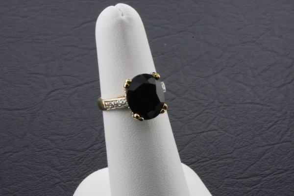 7: Ladies Blue Sapphire Diamond Ring 6059ctw - DI43