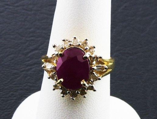 16: Ladies' Ruby Diamond Ring 5.37ctw DG72A