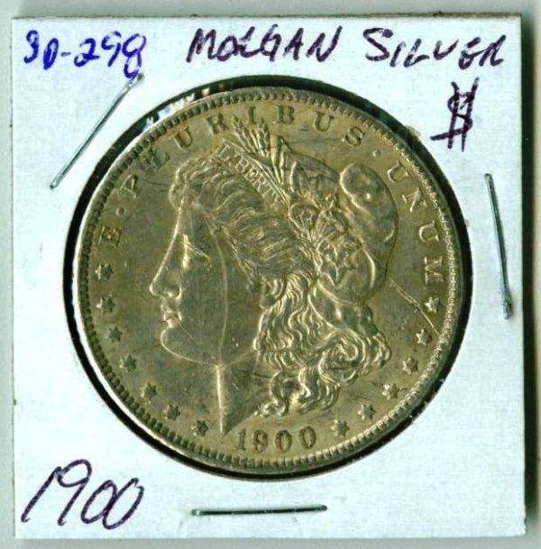 17: 1900 Morgan Silver Dollar SD298