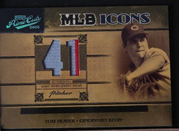 22: 2005 Prime Cuts Tom Seaver Jersey Prime Card 08/10