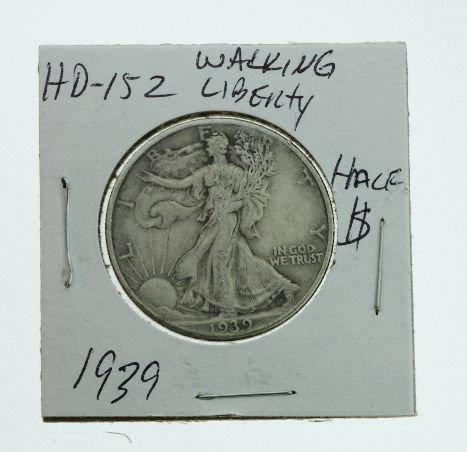 23: 1939 Walking Liberty Half Dollar HD152