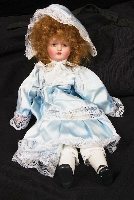 106: Vintage Porcelain Collector's Doll from 40 year pr