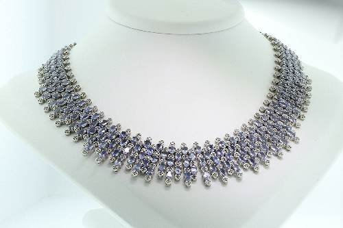 201: Tanzanite / Diamond Necklace 52.83 - NT1
