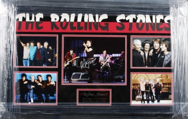 525: The Rolling Stones Autographed Photo Collage