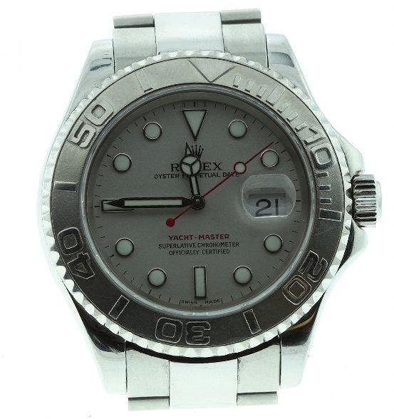 9: Rolex Perpetual Date Yacht Master Men's Watch - W12