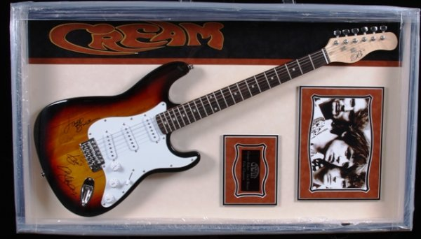 23: Cream Autographed Guitar Collage