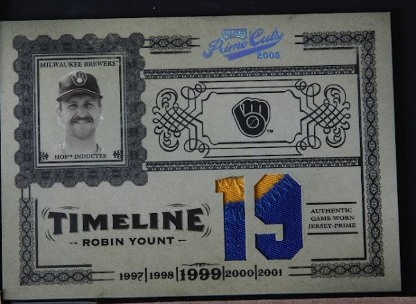 2: 2005 Prime Cuts Robin Yount Jersey Prime Card 14/25