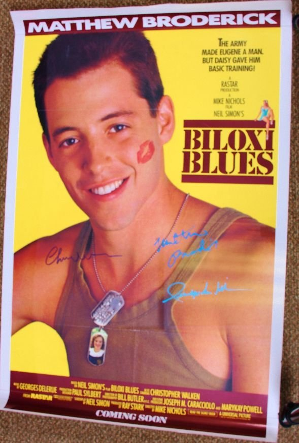 3: Biloxi Blues - Autographed Movie Poster Signed by Ma