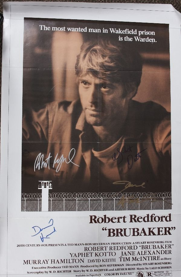 7: Brubaker - Autographed Movie Poster Signed by Robert