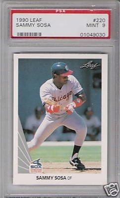 9: Sammy Sosa 1990 Rookie Baseball Card PSA 9