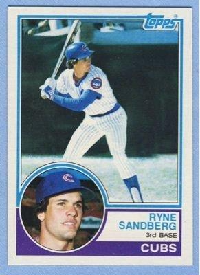20: Ryne Sandberg 1983 Rookie Baseball Card