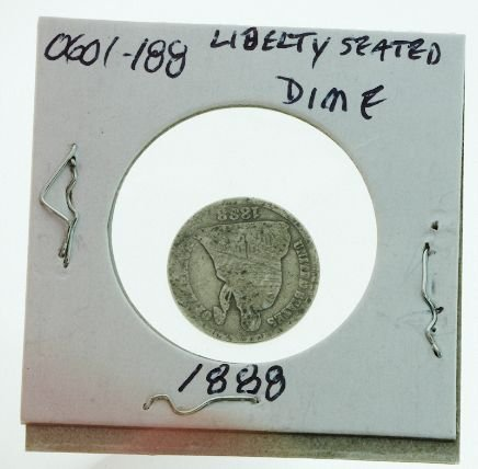 23: 1888 Seated Liberty Silver Dime 0601188