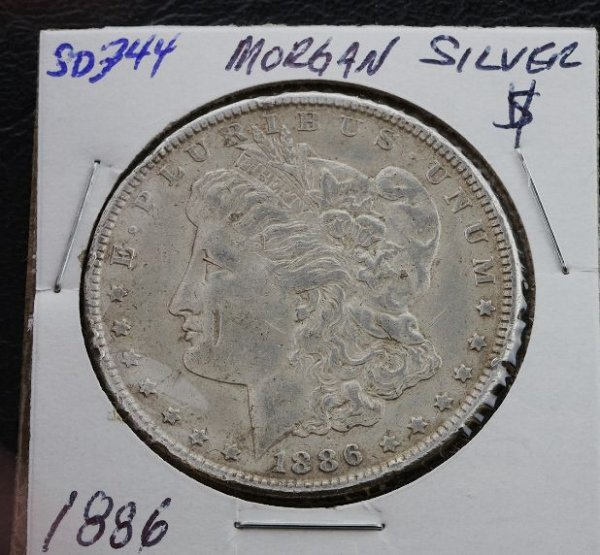 191: 1886 Morgan Silver Dollar SD344