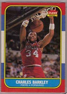 104: 1986 Fleer Charles Barkley Rookie Basketball Card