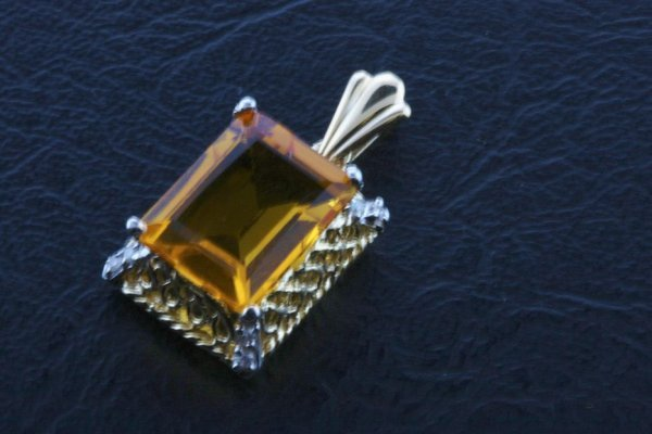 11: Ladies Citrine Diamond Pendant 8.74ctw - DI138