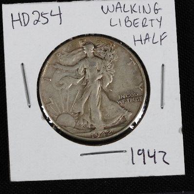 12: 1942 Walking Liberty Half Dollar HD254