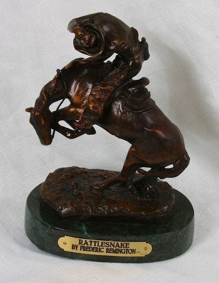 17: Frederic Remington Bronze Statue Reproduction - Rat