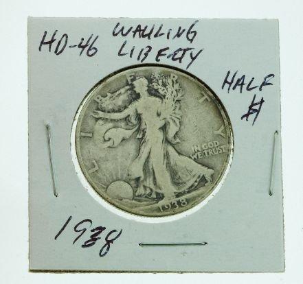 21: 1938 Walking Liberty Half Dollar HD46