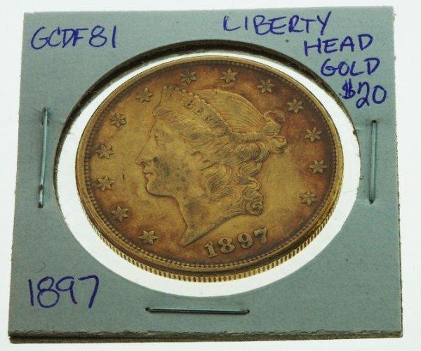 24: 1897 Liberty Head Double Eagle $20 Gold - GCDF81