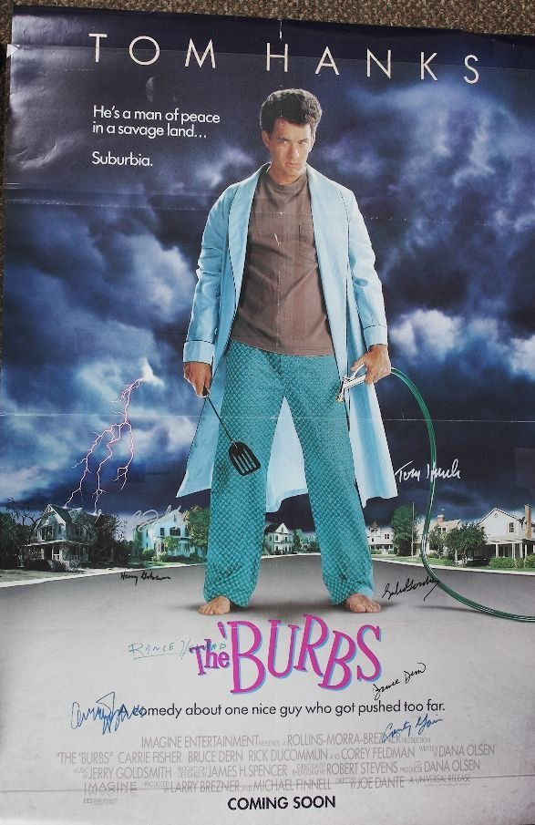 146: The Burbs - Autographed Movie Poster Signed by Tom