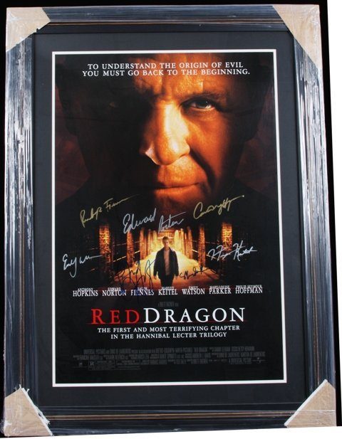 9: Red Dragon Autographed & Framed Movie Poster