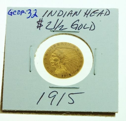 14: 1915 Indian Head $2 1/2 Gold GCDF32